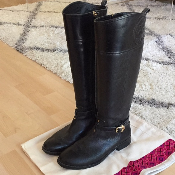 "88917c848f0 Tory Burch ""Marlene"" black riding boots. M 5bd620be9539f73a0af7d083"